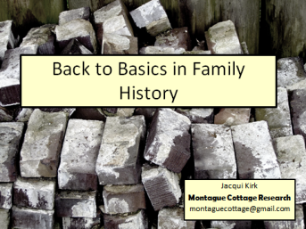 Back to basics in family history